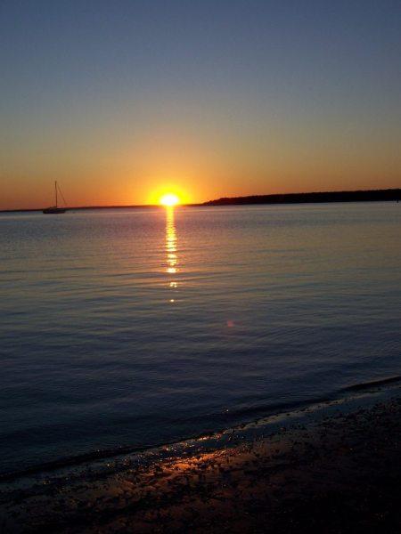 Sunset at the Megansett Beach, Cape Cod, Massachusetts