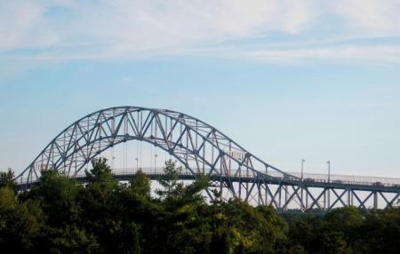 Bourne Bridge over the Cape Cod Canal, Massachusetts