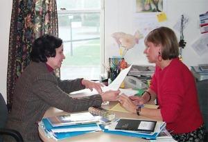 Nancy Benoit and Alicja Mann in Word Studio