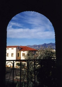 Tucson through an archway