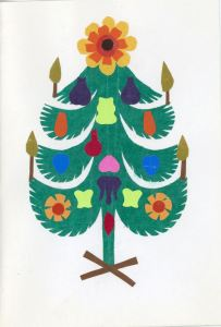 Polish paper-cut tree (Wycinanka)