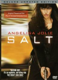 """Salt"" DVD cover with Angelina Jolie"