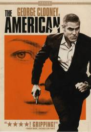 """The American"" DVD cover with George Clooney"