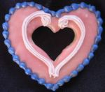 Heart-shaped cookie from Owl & Panther Project