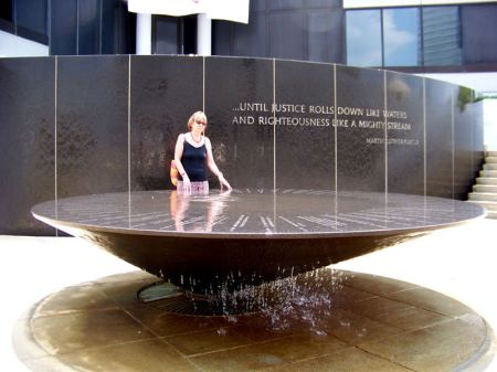 Alicja Mann at Civil Rights Memorial, Montgomery AL