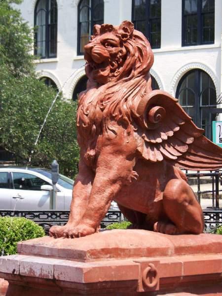 Lion fountain, Savannah GA