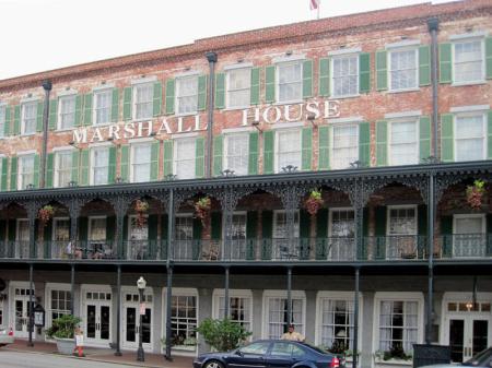 Marshall House - oldest hotel in Savannah, Georgia