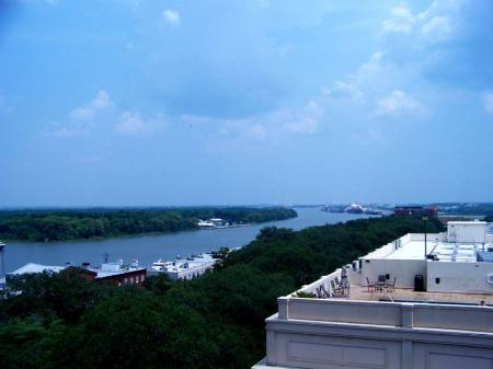 Savannah River from neaby roof