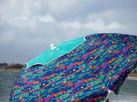Beach Umbrella - Cape Cod, Massachusetts - photo by Alicja Mann