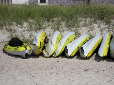 Resting Kayaks - Cape Cod, Massachusetts - photo by Alicja Mann