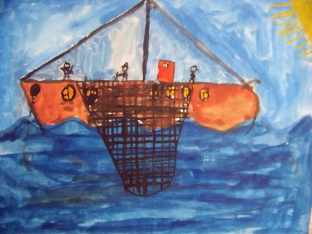 Art by Arkadiusz Wesolowski (age 10 in 1987), Gdynia, Poland. Photo by Alicja Mann.