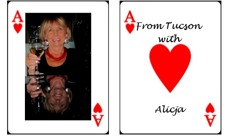 Two Ace of Hearts cards from Alicja Mann