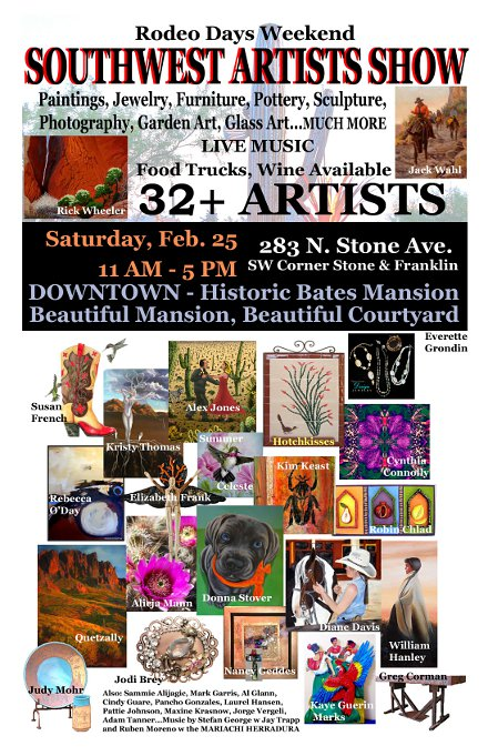 Flyer for Southwest Artists Show 2012