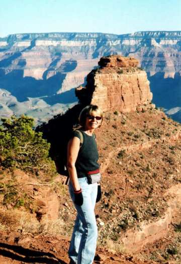 Alicja Mann at Grand Canyon