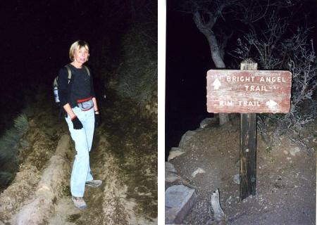 Alicja Mann and sign at end of Grand Cayyon hike