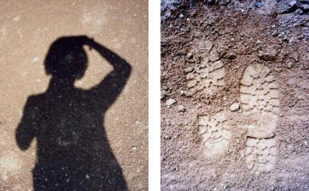 Alicja Mann shadow and footprints at Grand Canyon