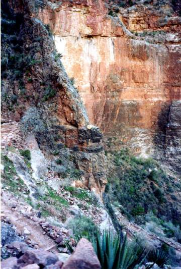 Grand Cayon walls seen from Bright Angel trail