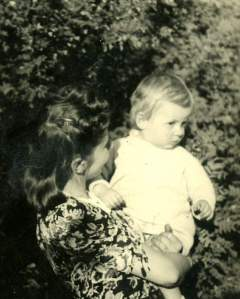 Toddler Alicja with her mother Krystyna
