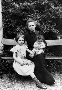 Marie Curie with her daughters
