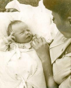 Baby Alicja and her mother Krystyna