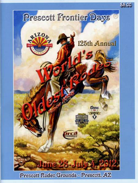 Cover of 2012 Prescott Rodeo program