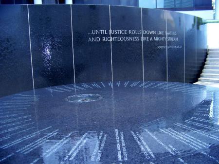 Civil Rights Memorial fountain in Montgomery, Alabama