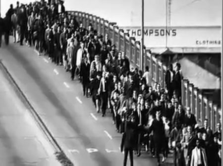 Marchers on Edmund Pettus Bridge, Selma