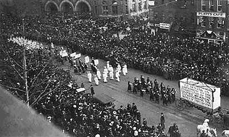 Women's suffrage march, Washington DC, March 3, 1913