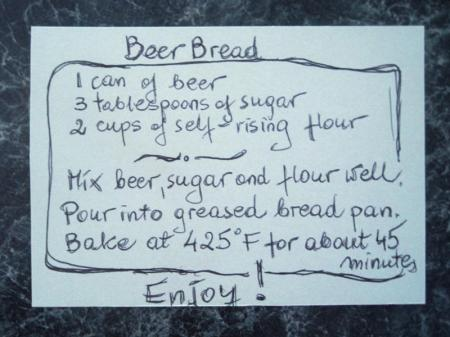 Recipe for beer bread