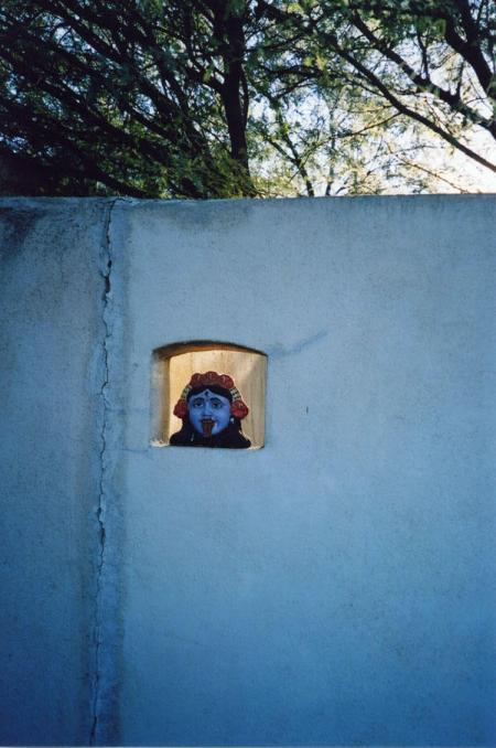 Southwestern wall with a windowed face