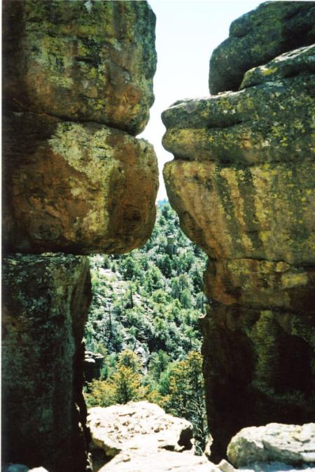 Two giant rock about to kiss
