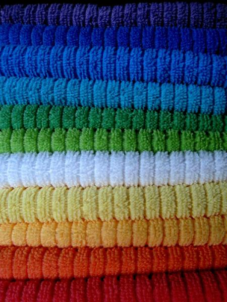 Soft very colorful towels