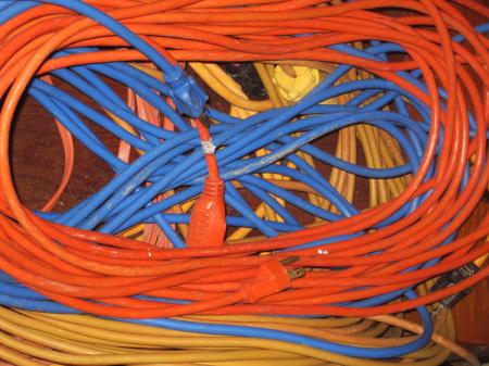 Colorful electric cords