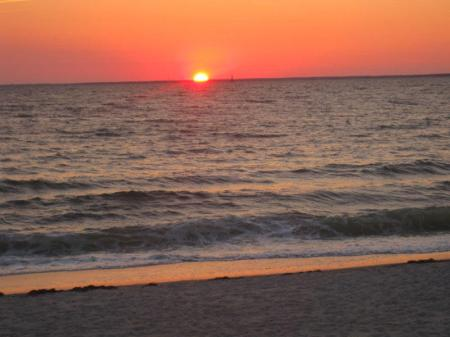 Sunset at the beach of Cape Cod