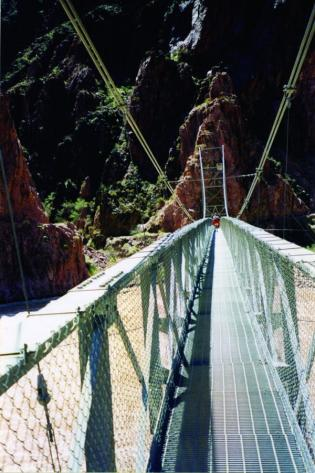 Silver Bridge at the bottom of the Grand Canyon